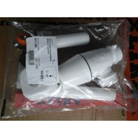 Afur Washtafel Pvc l universele pvc sifon met afvoerplug voor wastafels geschikt voor 32 mm aansluiting met