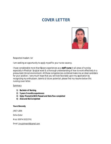 Sample Resume Format Dubai by Jincy Cv For Staff Nurse