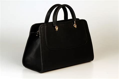 Purse Trend Black With A Touch Of Gold by Free Images Leather Black Handbag Brand Briefcase