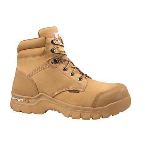 rugged work boots carhartt s waterproof 6 quot rugged flex work boots 689506 work boots at sportsman s guide