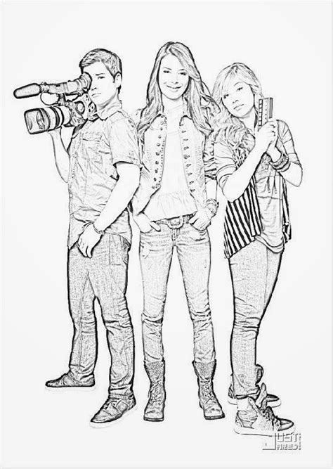 Icarly Coloring Pages To Print icarly coloring sheets free coloring sheet