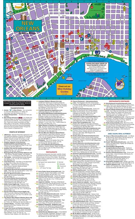 new orleans usa map new orleans tourist attractions map