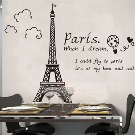 paris wall stickers for bedrooms paris eiffel tower decoration wall sticker wall decals