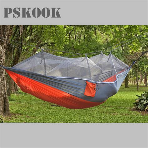 Hammockin Hammock 7 pskook cing hammock with mosquito net lightweight parachute portable pouch hang tent