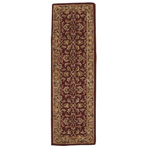 burgundy rug runner nourison india house burgundy 2 ft 3 in x 7 ft 6 in rug runner 211217 the home depot