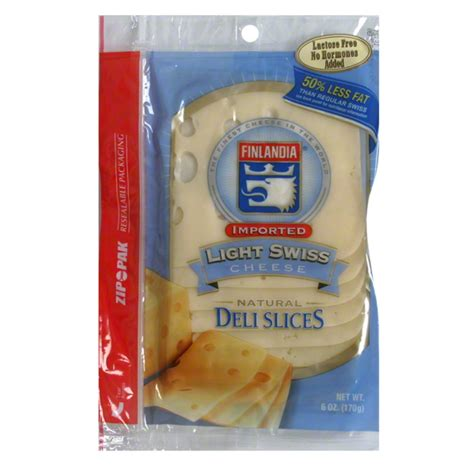 Light Cheese by Finlandia Cheese Imported Light Swiss Deli Eagle