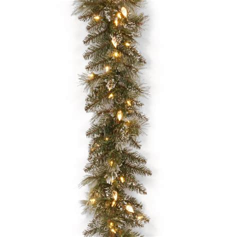 warm white garland home accents holiday 9 ft led pre lit nature inspired