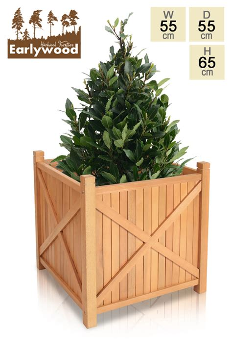 Hardwood Planters by Porth Hardwood Cube Planter With 55cm 163 69 99