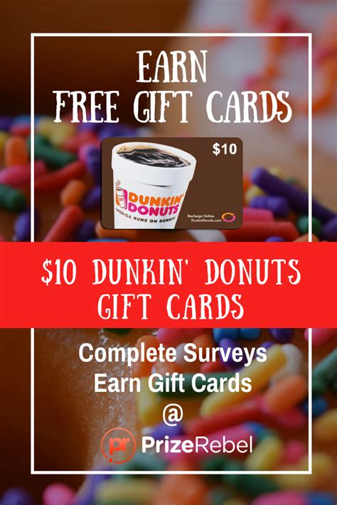 5 For A 10 Dunkin Donuts Gift Card - free dunkin donuts gift card emailed prizerebel
