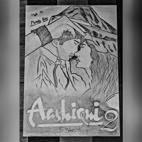 Aashiqui 2 Sketches by Aashiqui Paintings Desipainters