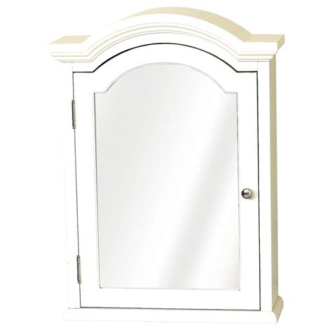 Rsi Home Products Cabinets Zenith White Arched Crown Pediment Medicine Cabinet Lowe