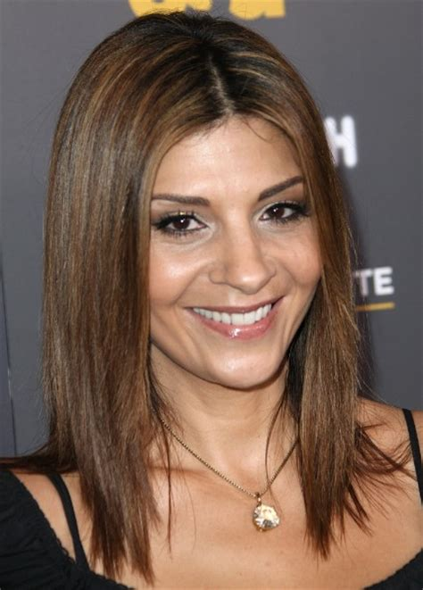 brown shoulder length hairstyles for straight hair