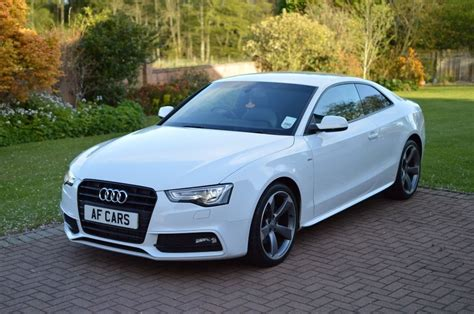 Audi A 5 S Line by Audi A5 Tdi S Line Black Edition White 2013 In