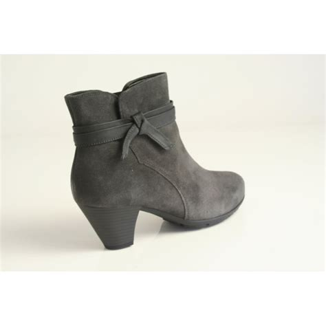 gabor gabor soft pepper grey suede leather ankle boot with