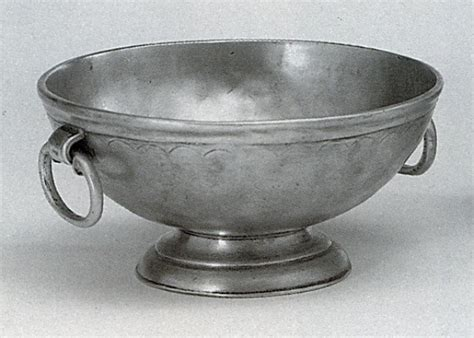 Pewter Footed Bowl with ring   Italian Handmade Highest
