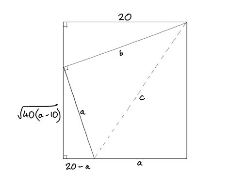 Paper Folding Problem - calculus word problem folded paper