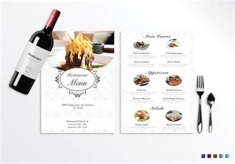 35 Beautiful Restaurant Menu Designs Inspirationfeed Blank Restaurant Menu Template