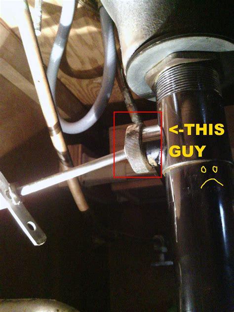 bathroom sink stopper broken plumbing how do i loosen my bathroom stopper pivot nut