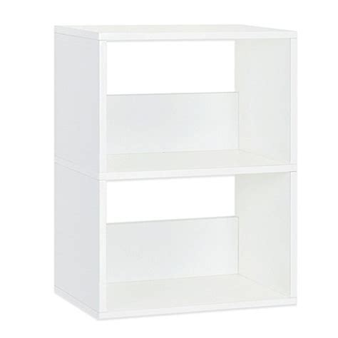 Way Basics Duplex 2 Shelf Bookcase In White Buybuy Baby White 2 Shelf Bookcase