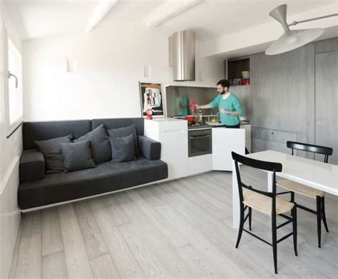 Two bedrooms, a studio, a living room, a kitchen and a