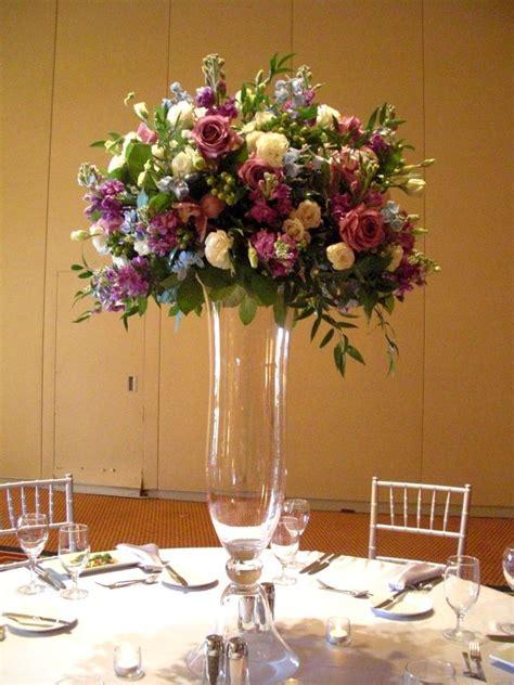 Purple Flower Arrangements Centerpieces Set Up Wedding Flowers For Tables Centerpiece