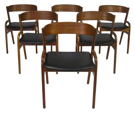 set of six danish modern dining chairs at 1stdibs 1950 60s danish teak dining chairs set of six hoopers