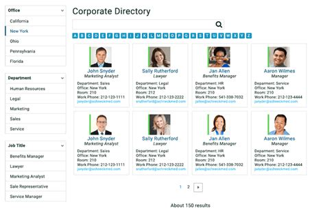 Build A Corporate Directory With Sharepoint Search Sharegate Directory Listing Html Template