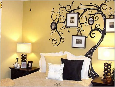 Paintings For Bedroom Decor by Decor Tree Wall Painting Black White And Gold Bedroom
