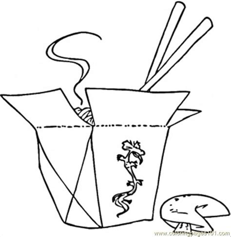 coloring pages chopsticks and food countries gt china