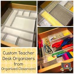 Classroom Desk Organization by Custom Desk Organizers