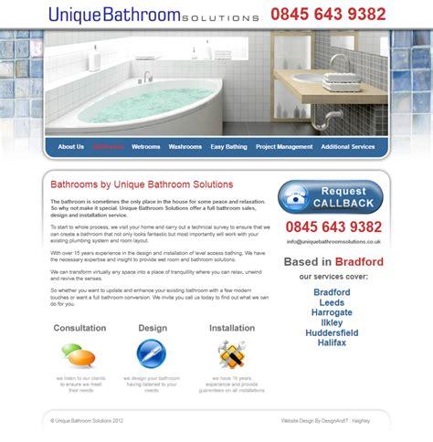 unique solutions design company profile unique bathroom solutions website portfolio design and