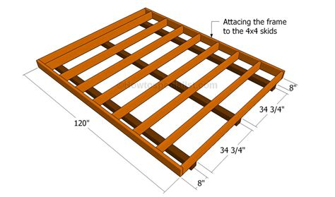 Distance Between Screws On Plywood Floor - how to build a shed floor howtospecialist how to build