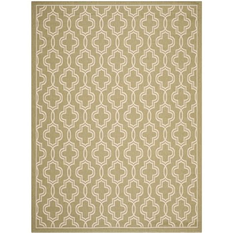 Martha Stewart Indoor Outdoor Rugs Safavieh Martha Stewart Green Beige 8 Ft X 11 Ft 2 In Indoor Outdoor Area Rug Msr4274 244 8