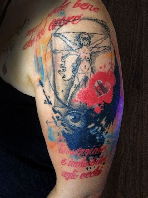 are tattoos trashy masonry cartel trash polka multicolour half sleeve