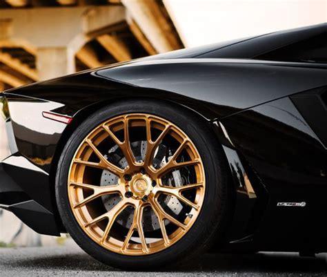 Lamborghini Alloy Wheels Black Gold Lamborghini Alloys