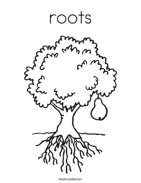 roots coloring page twisty noodle