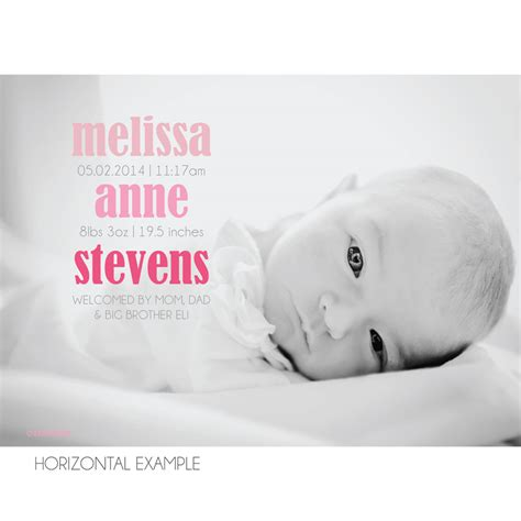 simple photo birth announcement kateogroup