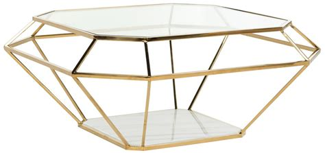 Outdoor Hospitality Furniture - contemporary geometric marble metal coffee table safavieh