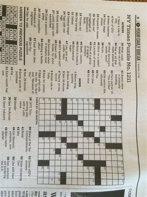 1 Across One Who Can T Win 6 Letters Robert Sterling
