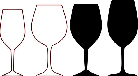 wine glass svg clipart wine glass shapes