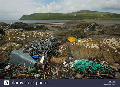 Landscape Plastic Sea Landscape With Plastic Waste On The Shore Stock Photo