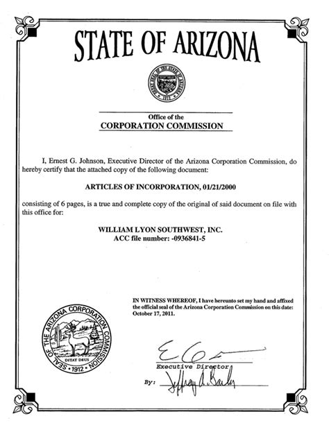 Of Arizona Mba Pay by Articles Of Incorporation Gallery Cv Letter And