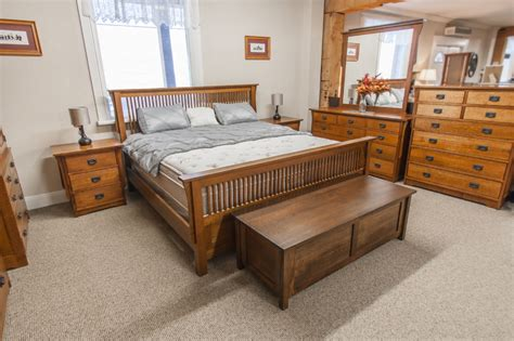 mennonite bedroom furniture ontario mission 1 4 cut oak 7 piece bedroom suite lloyd s