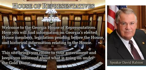 house of representatives schedule georgia house of representatives