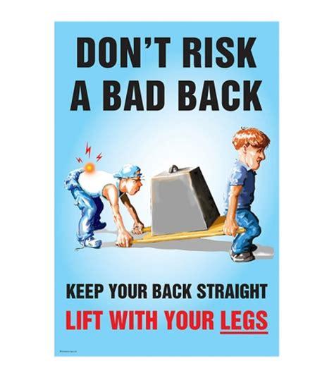 printable safe lifting poster don t risk a bad back safe lifting safety poster ssp