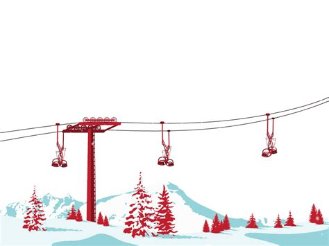 animated ski lift decoration skiing gifs wifflegif