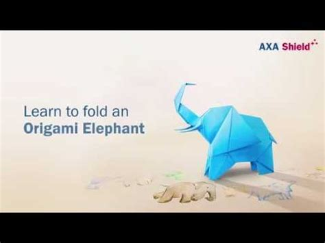 How To Fold Origami Elephant - origami elephant vidoemo emotional unity