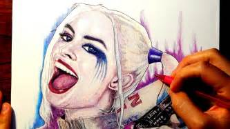 harley quinn squad drawing youtube