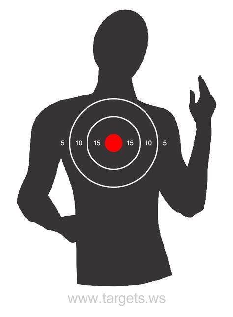 printable targets human targets print your own silhouette shooting targets