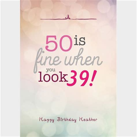 50 Year Birthday Cards Personalised 50th Birthday Cards Gettingpersonal Co Uk